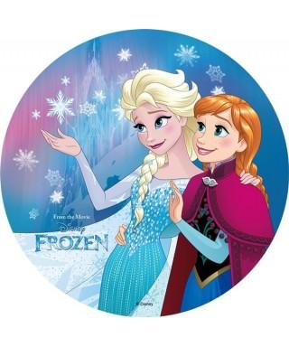 Disque Azyme Elsa et Anna La Reine des Neiges