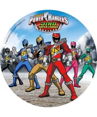 Disque en pâte à sucre Power Rangers Dino Super Charge