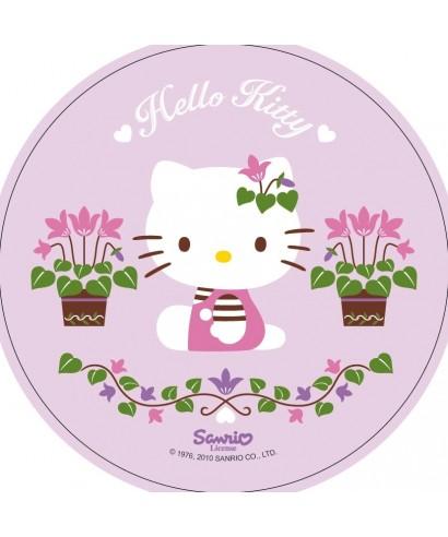 Disque Azyme Hello Kitty avec ses fleurs