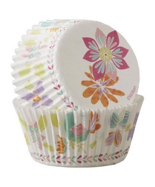 Caissettes Cupcake fleur de printemps pk/75 Wilton