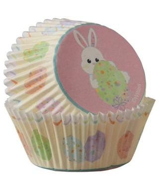 Caissettes Cupcake Lapin de pâque pk/75 Wilton