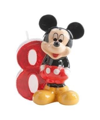 Bougie Mickey Chiffre 8 Disney