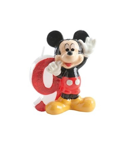 Bougie Mickey Chiffre 9 Disney