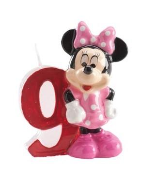 Bougie Minnie Chiffre 9 Disney