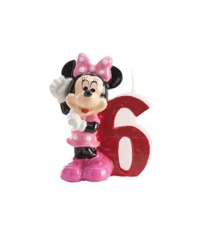 Bougie Minnie Chiffre 6 Disney