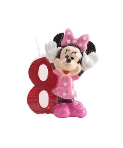 Bougie Minnie Chiffre 8 Disney