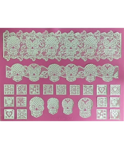 Tapis Dentelle Day Of The Dead Cake Lace