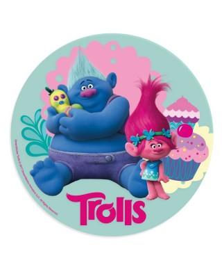 Disque Azyme Biggie et Poppy Trolls