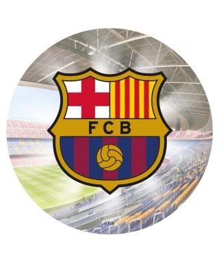 Disque pâte à sucre FC Barcelone