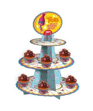 Présentoir à Cupcake les Trolls