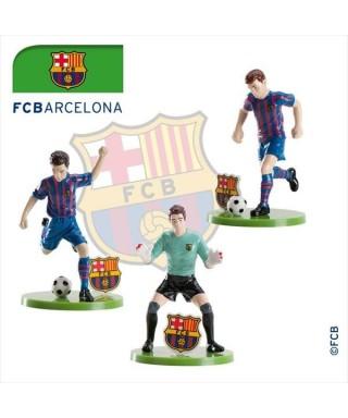 Figurine 3D en pvc du F.C BARCELONA set/3