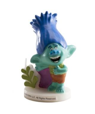 Bougie 3D de Branche des Trolls