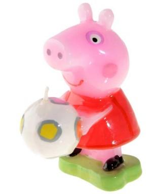 Bougie 8cm Peppa Pig et son ballon