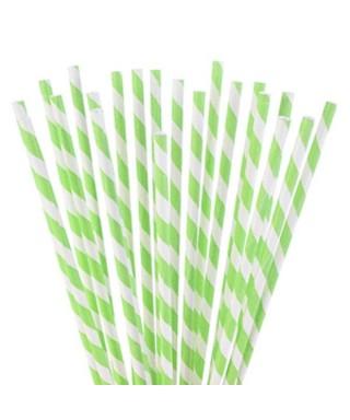 Bâtonnets à cake pop Blancs rayures Vert
