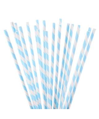 Bâtonnets à cake pop Blancs rayures Bleu