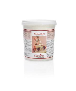 Pâte à sucre modelage Blanche 1kg Saracino