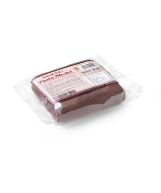 Pâte à sucre modelage Marron 250g Saracino