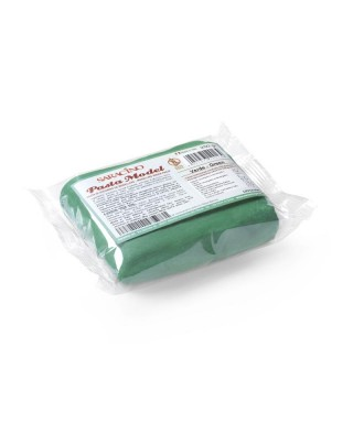 Pâte à sucre modelage Vert 250g Saracino
