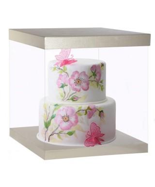 Boîte à gâteau transparent 50X50Xh54