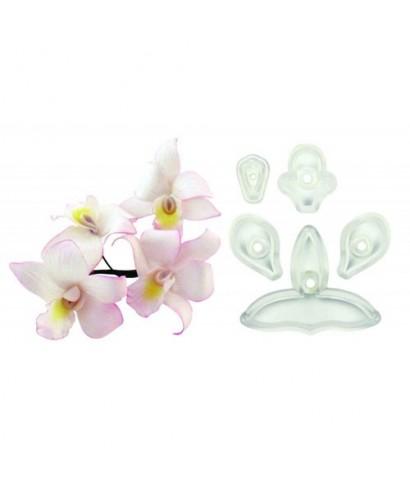 Emporte-pièce Singapour orchidée 3D set/5 JEM