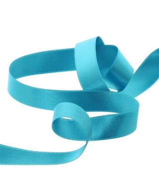 Ruban satin bleu turquoise