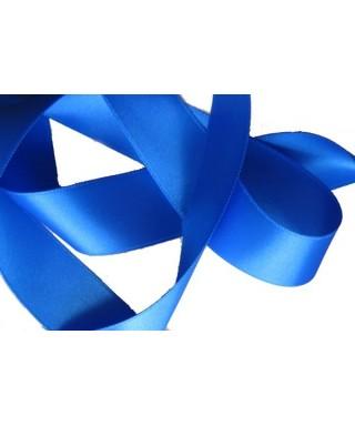 Ruban satin bleu électrique